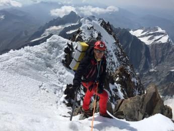 Cresta del Brouillard, fine delle difficoltà