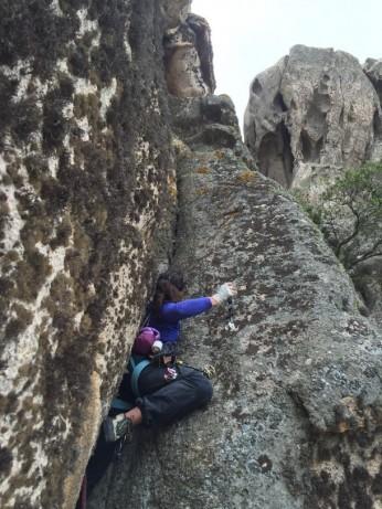 Diedri muschiati sul granito di San Pantaleo