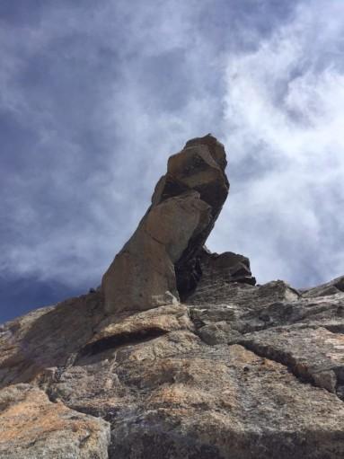 Grand Capucin, sotto la cima