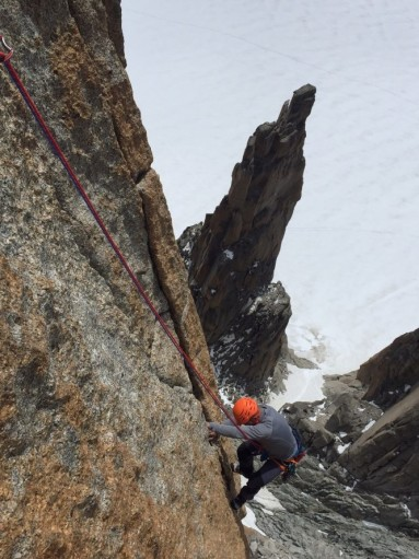 Il trident du Tacul visto dal Grand Cap