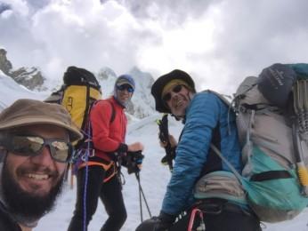Verso il campo alto dell'Alpamayo
