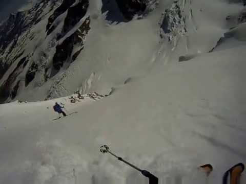 Lyskamm North Face - steep skiing